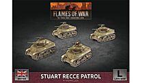 Stuart Recce Armoured Troop (x4 Plastic)
