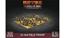 25 pdr Field Troop (x4 Plastic)