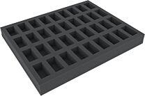 35mm Full-size foam tray met 36 vakjes