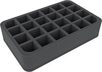 60mm Half-Size tray met 24 vakjes