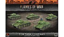 T-34 Tank Company (x5 plastic tanks)