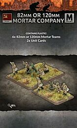 82mm or 120mm Mortar Company (3+3 of each team Plastic)