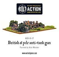 British Army 6 Pounder ATG & Crew