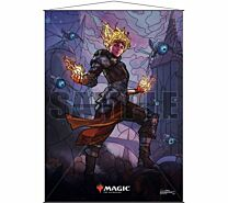Stained Glass Wall Scroll Magic: The Gathering - Chandra