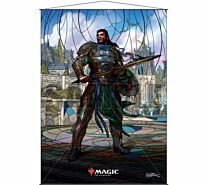 Stained Glass Wall Scroll Magic: The Gathering - Gideon